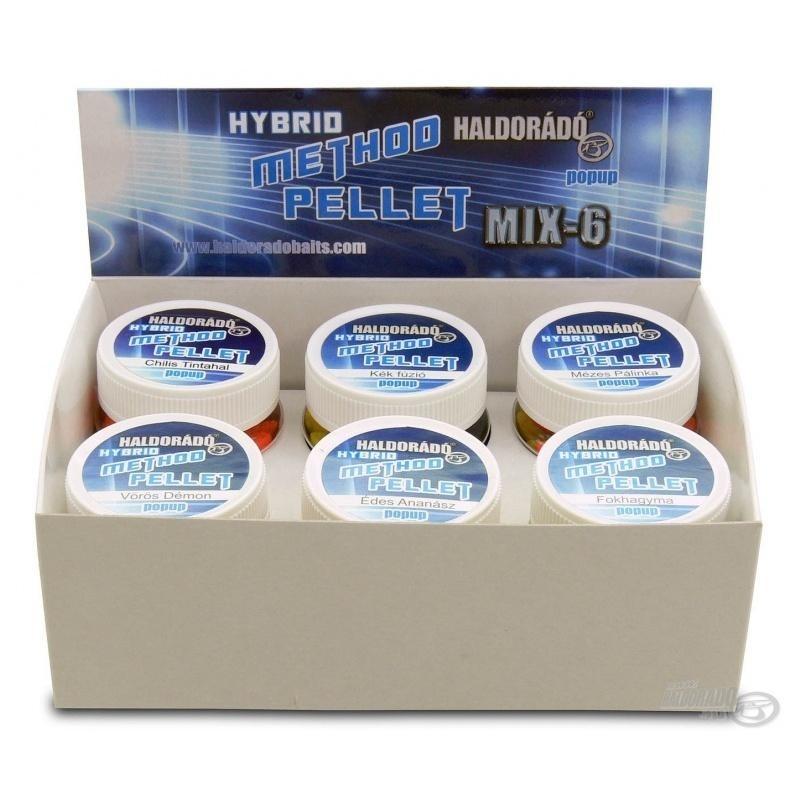 Haldorado - Pelete flotant Hybrid Method Pellet - MIX-6, 6 arome intr-o cutie