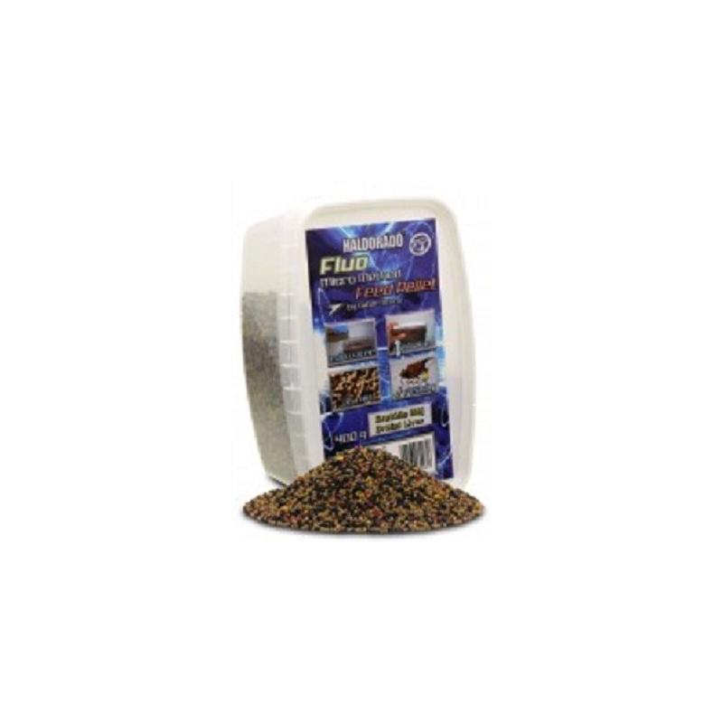 Haldorado - Fluo Micro Method Feed Pellet - Brutal Liver - 400g
