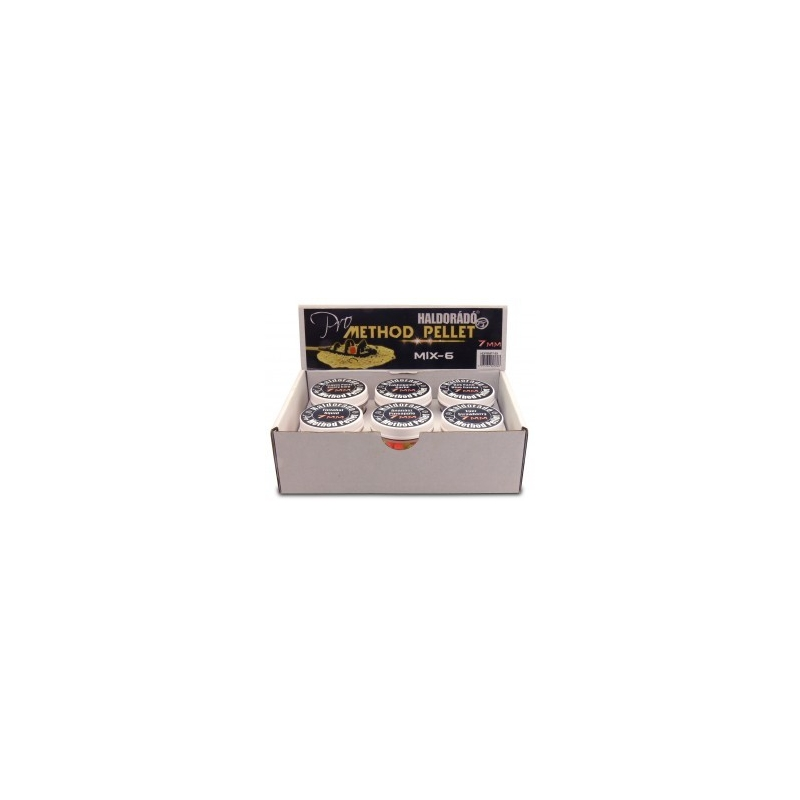 Haldorado - Pelete flotant Pro Method Pellet 7mm - MIX-6   6 arome intr-o cutie