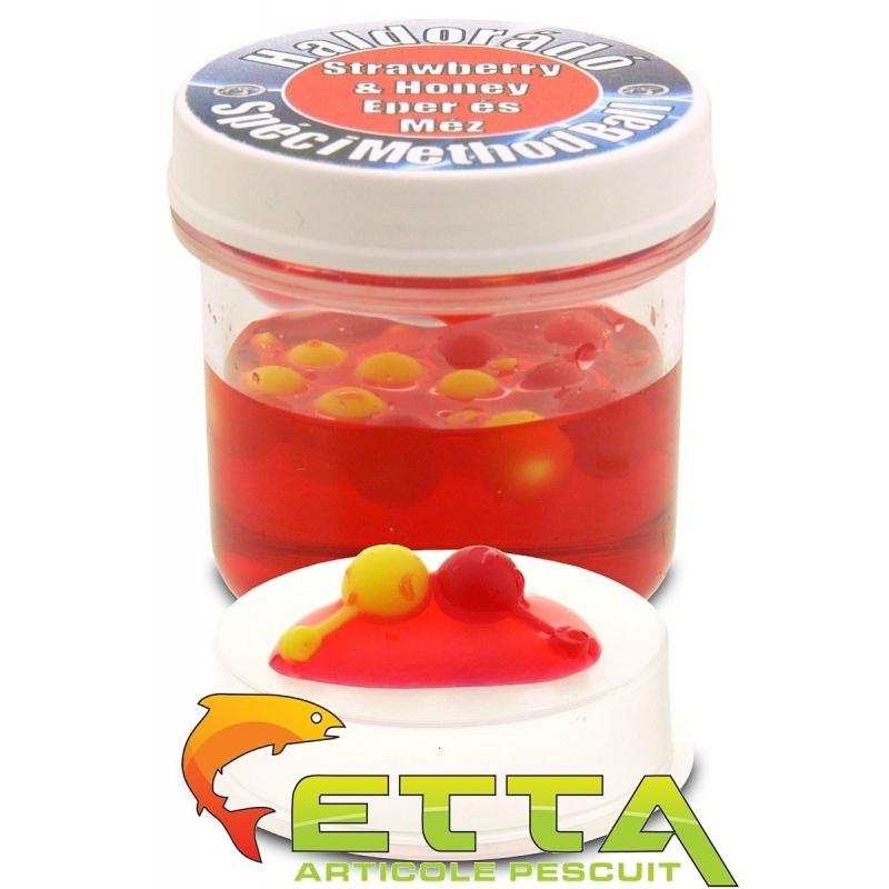 Haldorado - Momeala artificiala SpeciMethod Ball - Capsuna si Miere 12boabe cutie