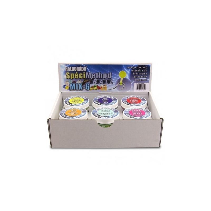 Haldorado - Momeala artificiala SpeciMethod Ball - MIX-6   6 arome intr-o cutie