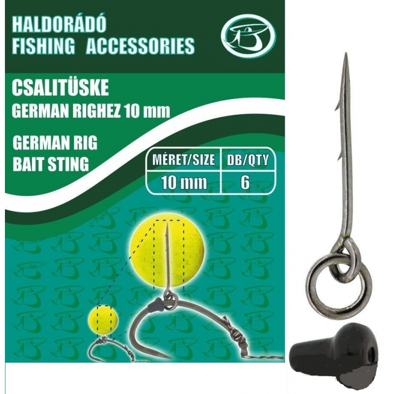 Haldorado - Tepuse momeala - Bait Sting - German Rig 10mm 6buc/plic