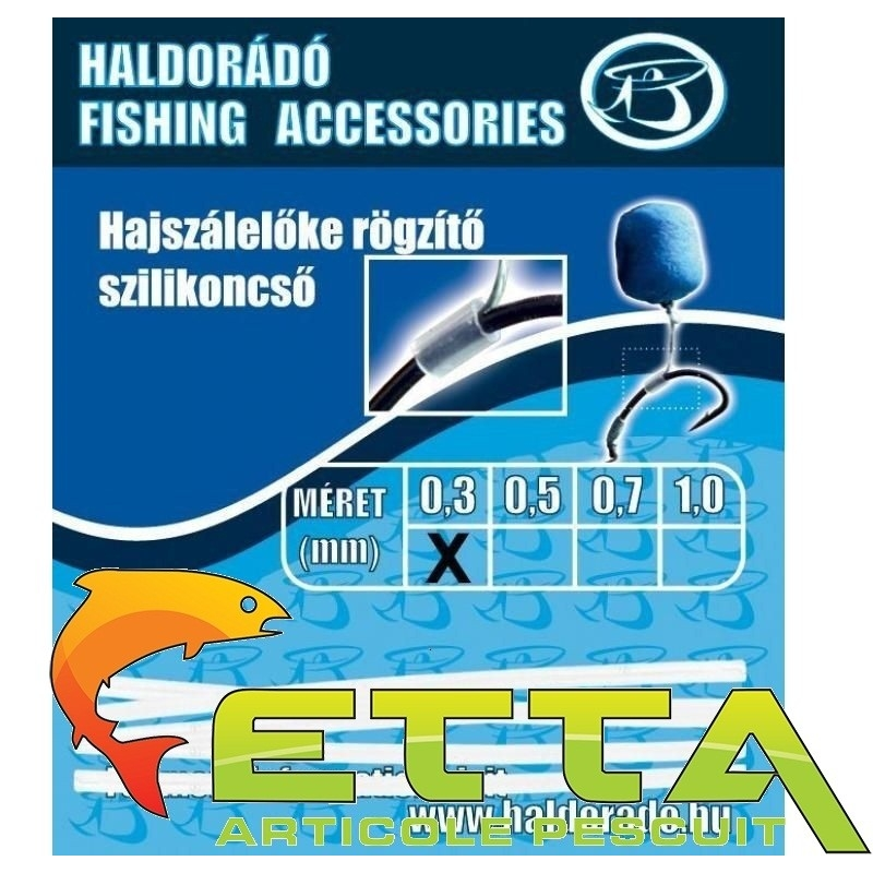 Haldorado - Tub silicon fixare inaintas fir de par 0,3mm 1buc/plic