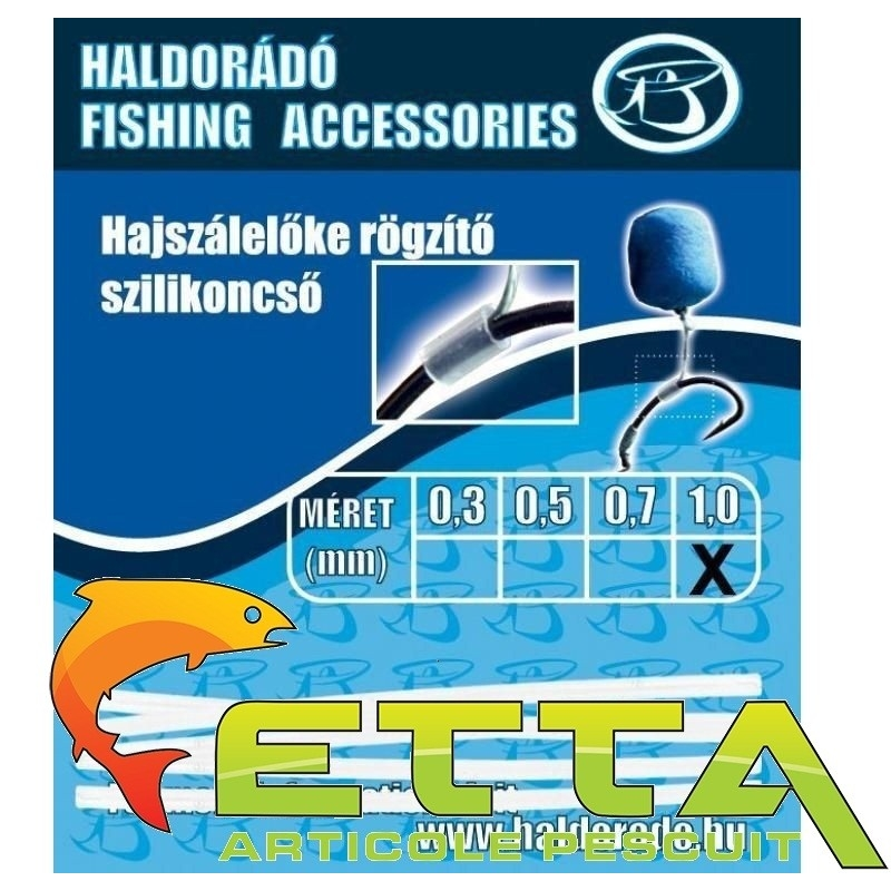 Haldorado - Tub silicon fixare inaintas fir de par 1,0mm 1buc/plic