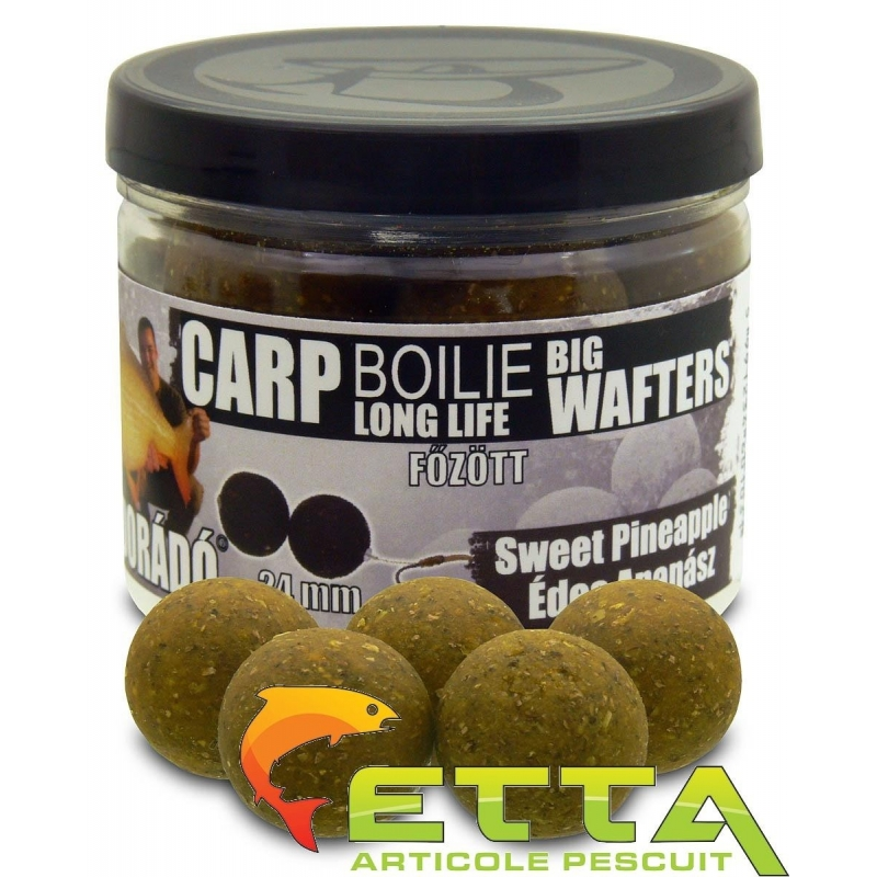 Haldorado - Carp Boilie Big Wafters Sweet Pineapple 70g 24mm
