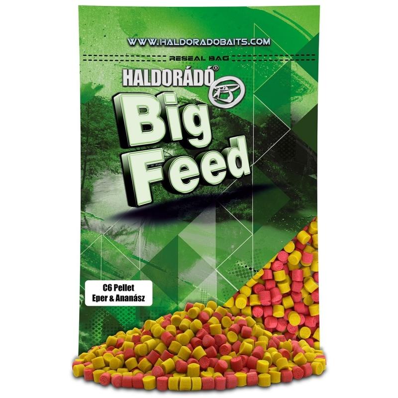 Haldorado - Big Feed - C6 Pellet - Capsuna  Ananas 0.9kg, 6 mm