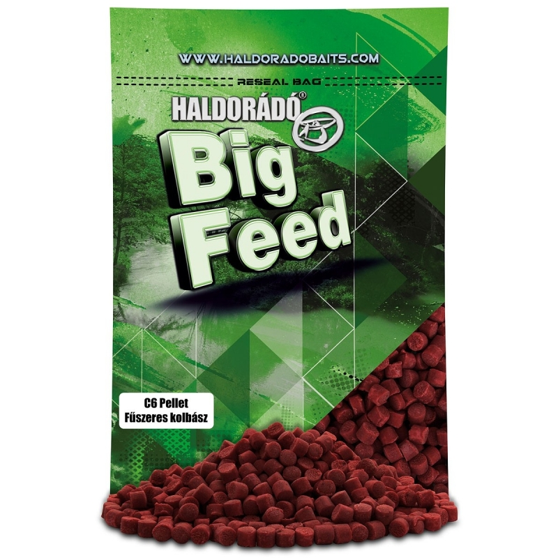Haldorado - Big Feed - C6 Pellet - Carnat Condimentat 0.9kg, 6 mm