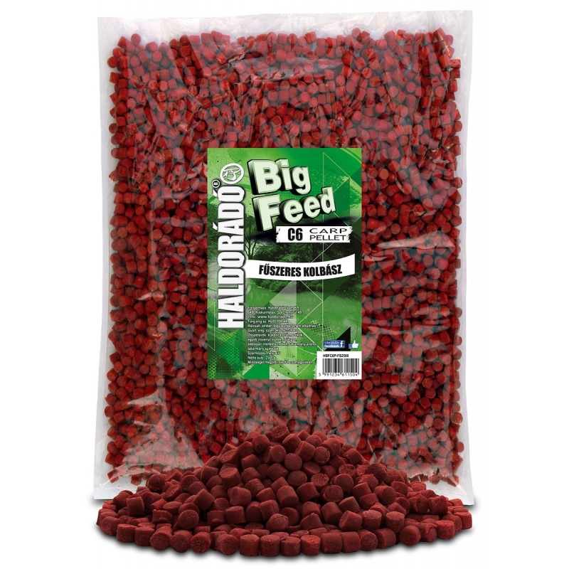 Haldorado - Big Feed - C6 Pellet - Carnat Condimentat 2.5kg, 6 mm