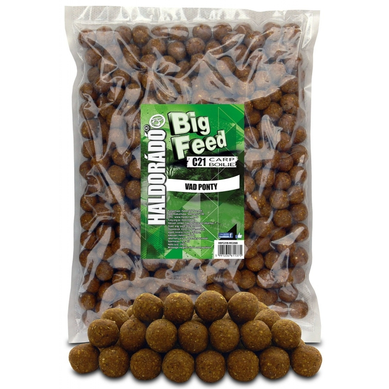 Haldorado - Big Feed - C21 Boilie - Crap Salbatic 2.5kg, 21 mm