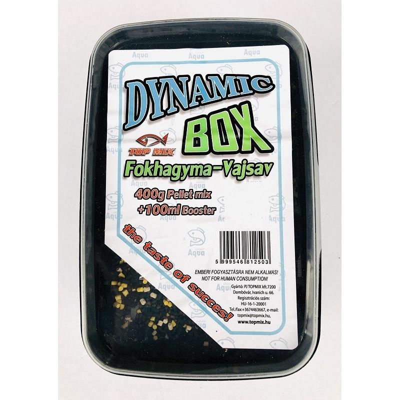 Top Mix - Pelete pentru momit Dynamic Pellet Box - Usturoi+acid n-butyric 400g+100ml aroma