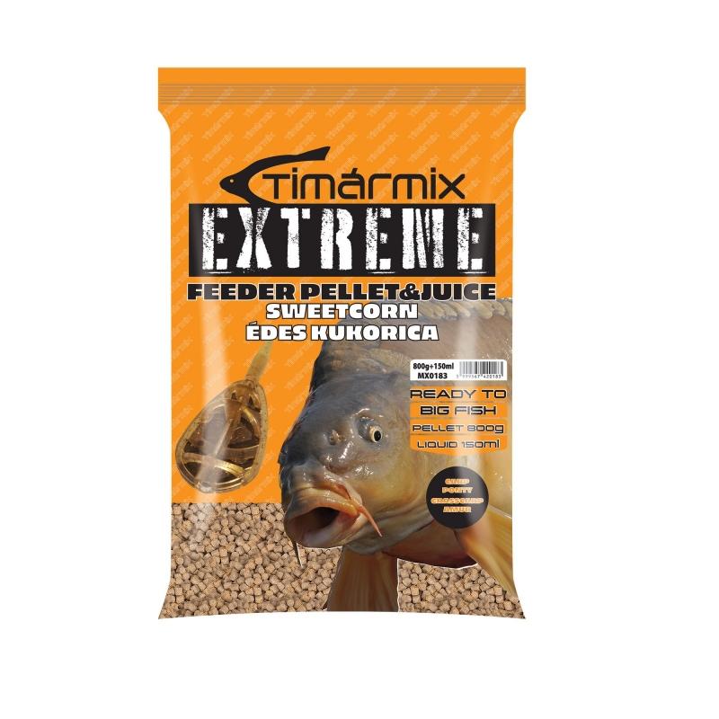Timar - Pelete pentru momit Extreme Pellet&Juice Porumb dulce 800g+150ml