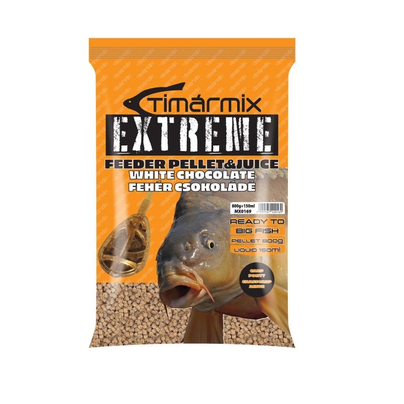 Timar - Pelete pentru momit Extreme Pellet&Juice Ciocolata alba 800g+150ml