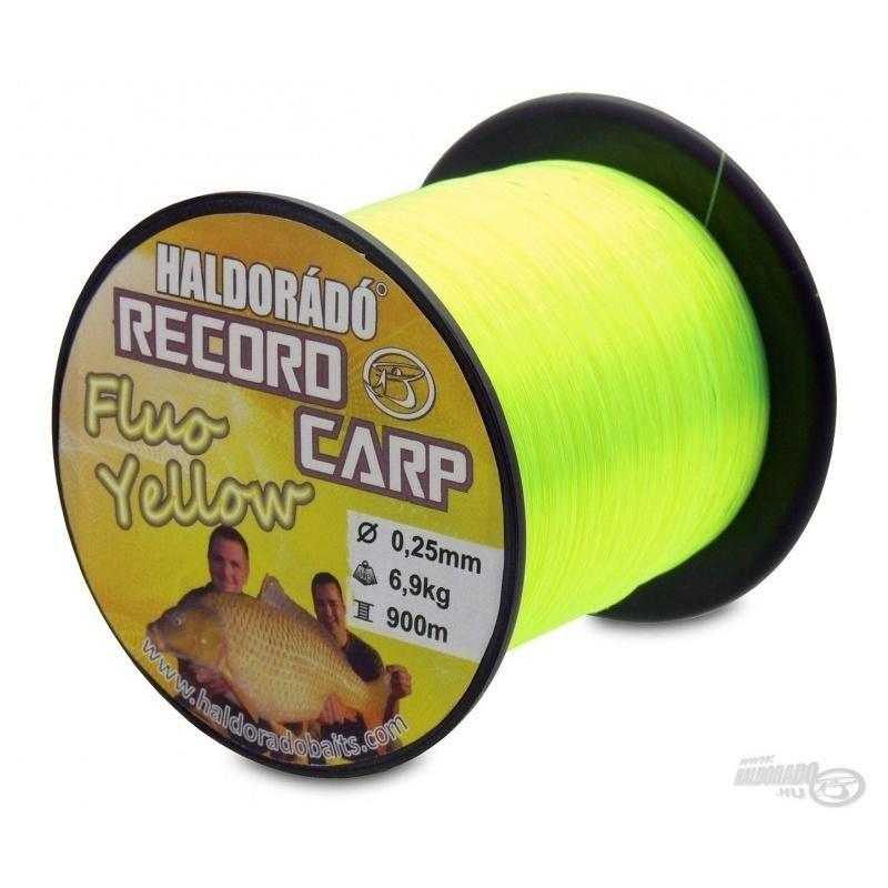 Haldorado - Fir Record Carp Fluo Yellow 0,25mm 900m - 6,9kg