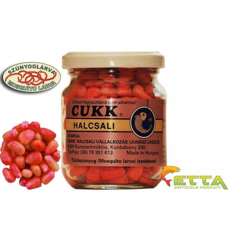 Cukk - Porumb borcan fara zeama - Larve de tantari(roz)