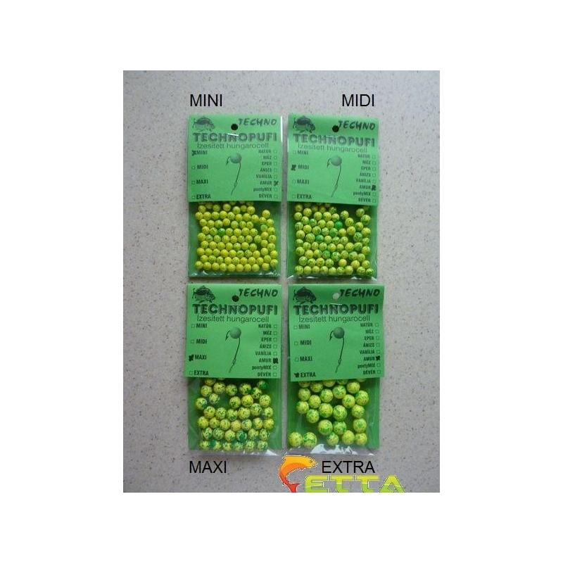 Technopufi Amur (verde+galben) maxi