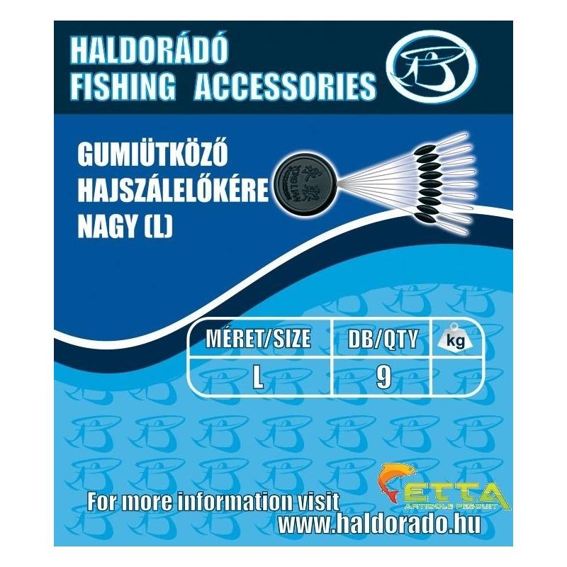 Haldorado - Opritor cauciuc fir de par - mare(L) 9buc/plic