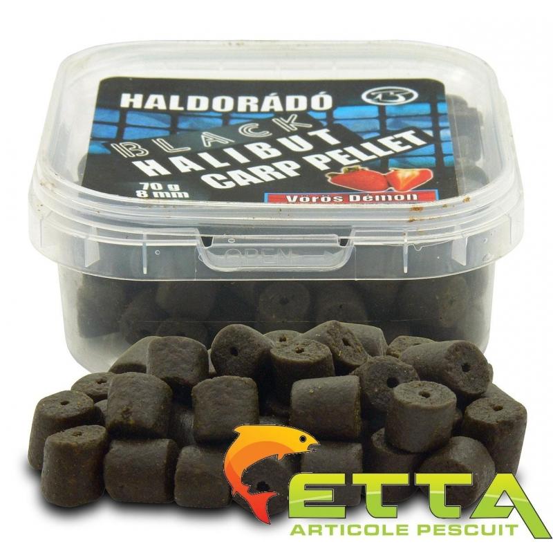 Haldorado - Pelete de carlig Black Halibut Carp Pellet Demonul Rosu 70g