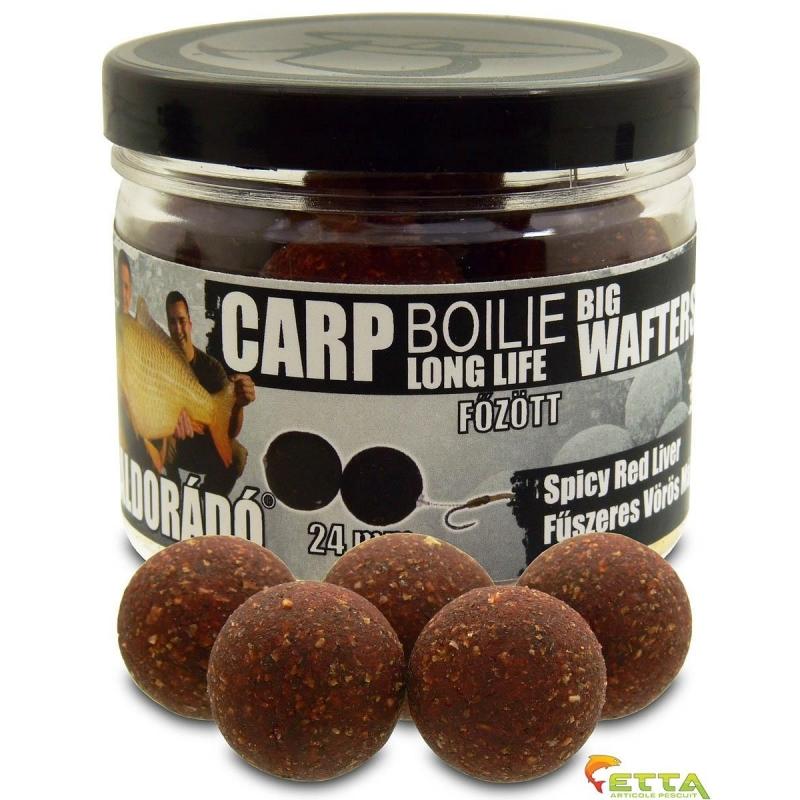 Haldorado - Carp Boilie Big Wafters Spicy Red Liver 70g 24mm