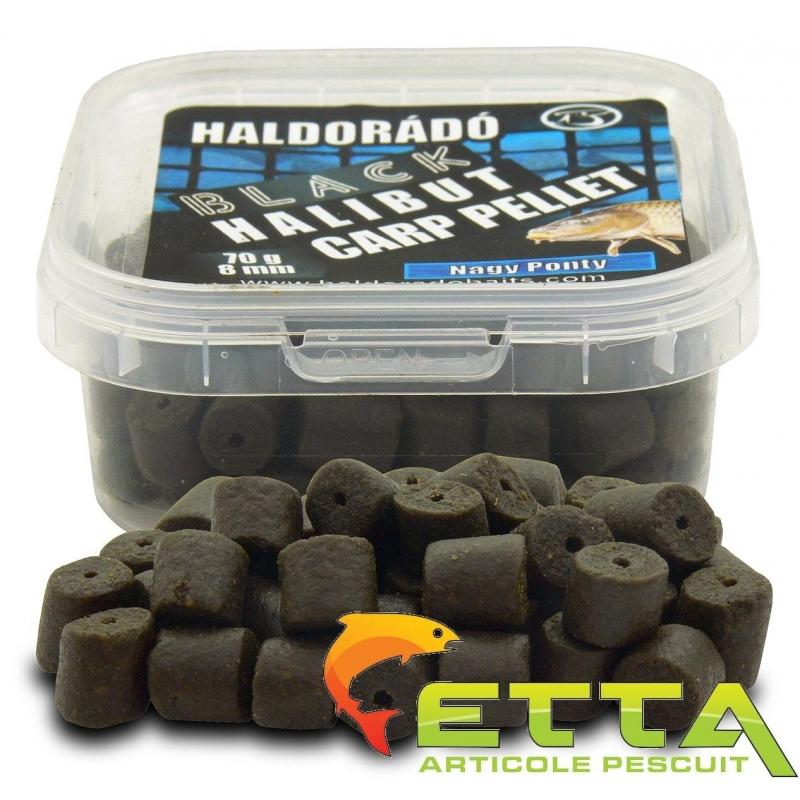 Haldorado - Pelete de carlig  Black Halibut Carp Pellet Crap Mare 70g