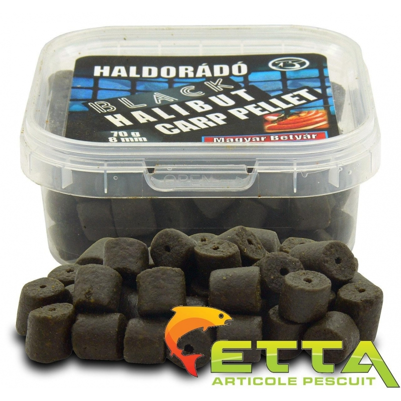 Haldorado - Pelete de carlig Black Halibut Carp Pellet Haiduc Unguresc 70g
