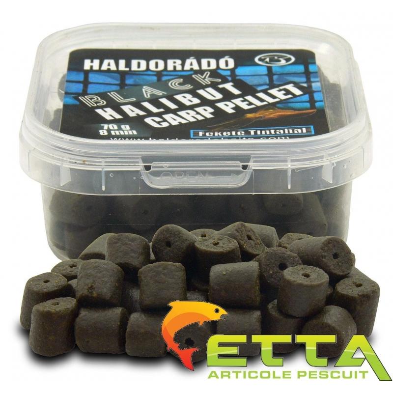Haldorado - Pelete de carlig Black Halibut Carp Pellet Black Squid 70g