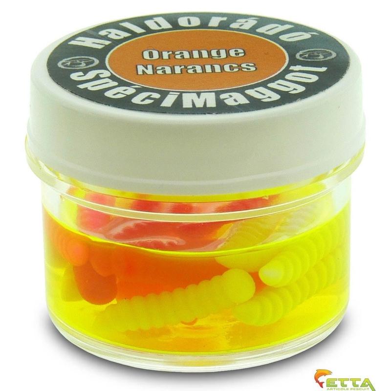 Haldorado - Momeala artificiala SpeciMaggot - Portocale 16bucati cutie