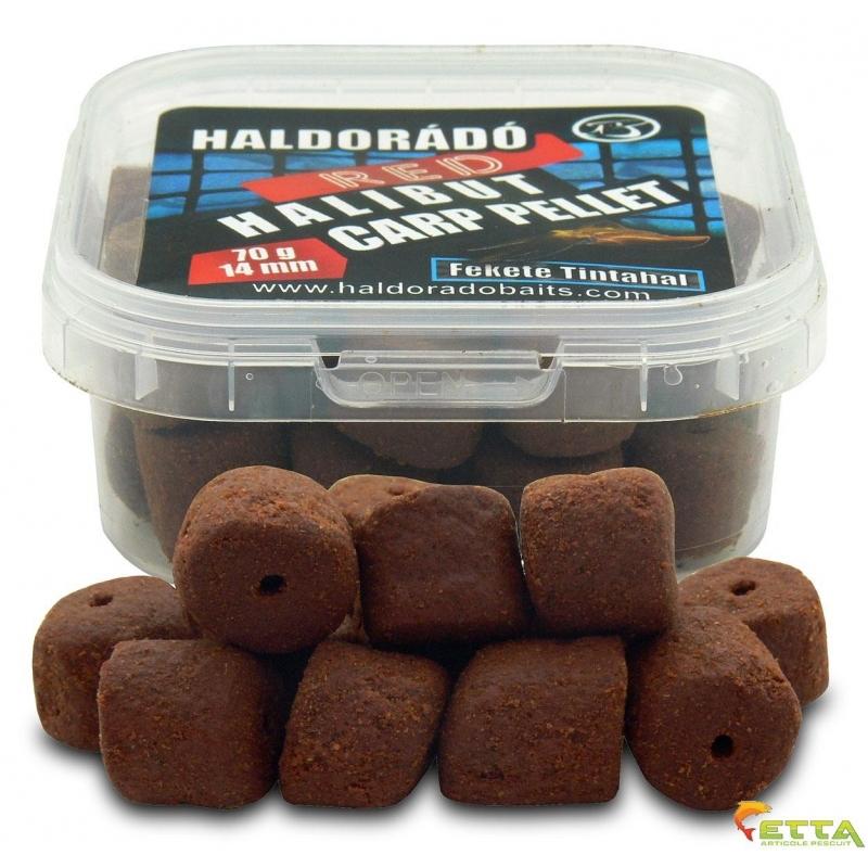 Haldorado - Pelete de carlig Red Halibut Carp Pellet Black Squid 70g